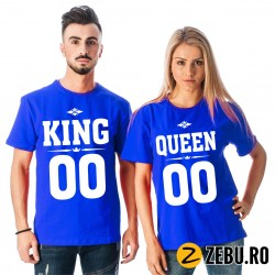 Set Tricouri Cuplu King &...