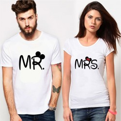 Set Tricouri Cuplu Mr & Mrs